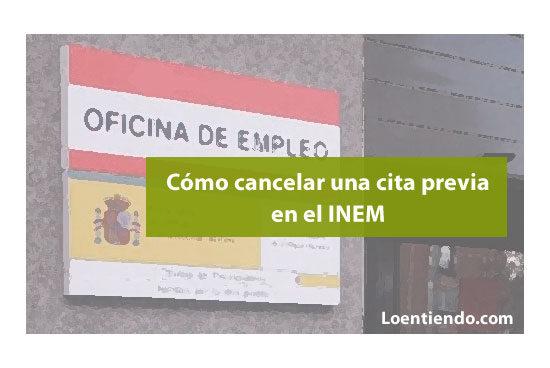 Cómo cancelar una cita previa en el INEM