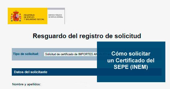 C mo pedir certificados en el sepe inem inem 2018 for Oficina virtual inem para sellar