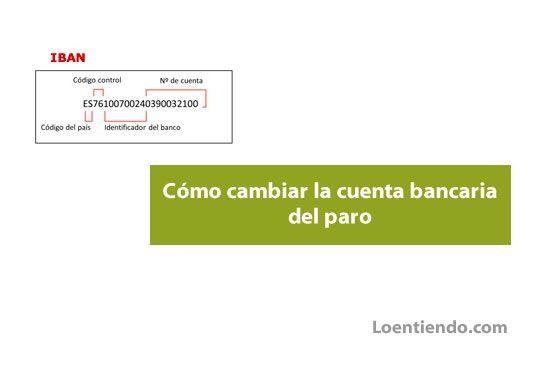 Cómo cambiar la cuenta bancaria del paro