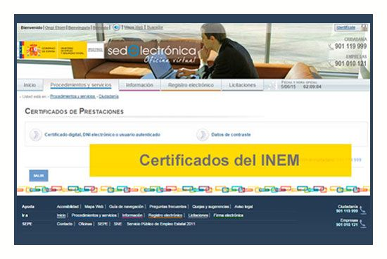Certificados del INEM