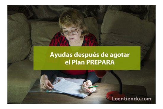 Ayudas por desempleo después del Plan Prepara