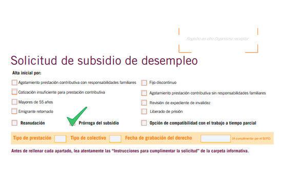 Cómo renovar el subsidio de desempleo