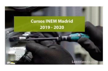 Cursos del INEM en Madrid 2019-2020