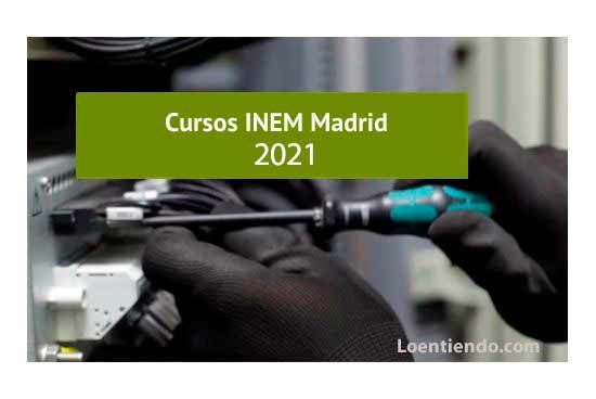 Cursos INEM MADRID 2021
