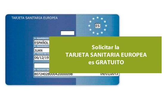 Solicitar la Tarjeta Sanitaria Europea es gratuito