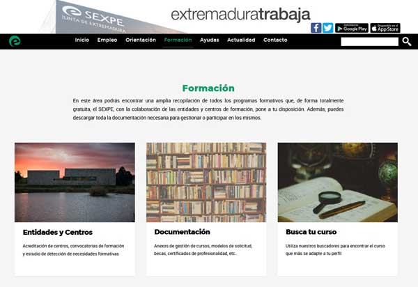 Cursos INEM en Extremadura