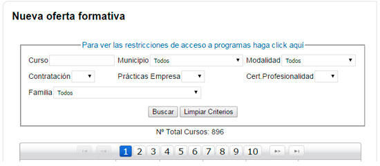 Buscador de cursos INEM MURCIA