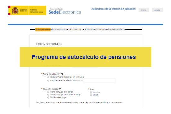 Programa para el autoc lculo de pensiones de jubilaci n for Sellar inem por internet