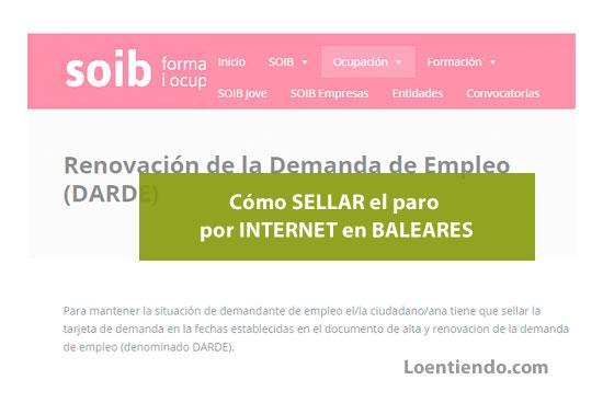 Sellar el paro por Internet en Baleares