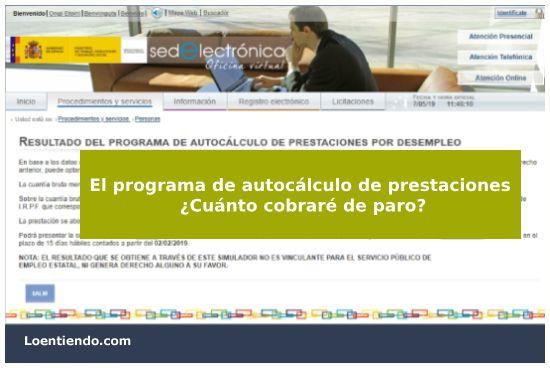 Programa de autocálculo de prestaciones