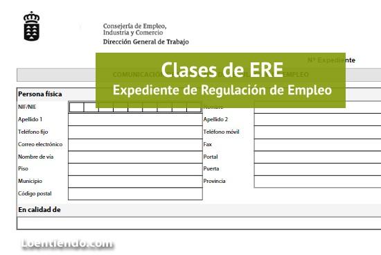 Clases de Expediente de Regulación de Empleo