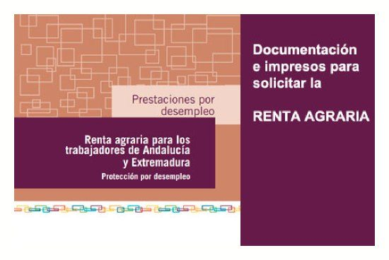 Documentación para solicitar Renta Agraria