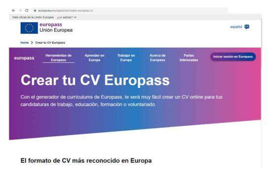 El curriculum europeo