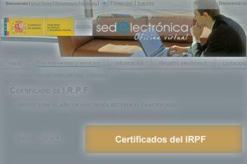 El certificado del IRPF del paro para la renta 2015 (declaración en 2016)