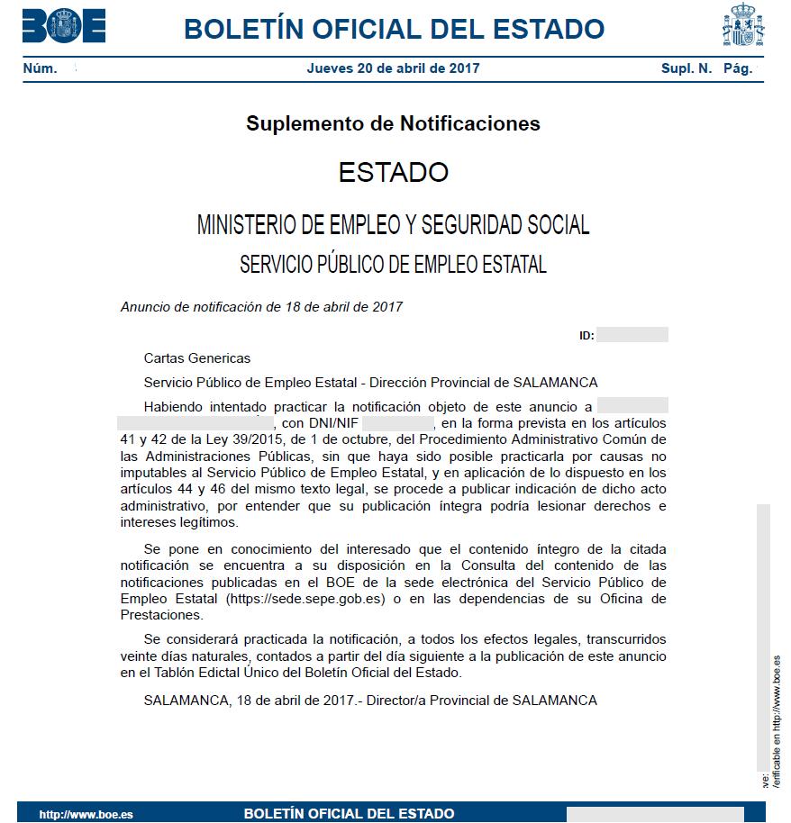 El tabl n edictal nico tr mites 2018 loentiendo for Oficina electronica sepe