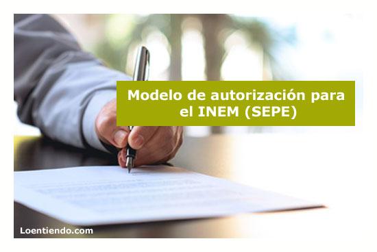 Modelo de autorización para el INEM (SEPE)