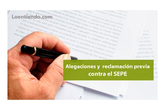 Alegaciones y reclamacion previa SEPE