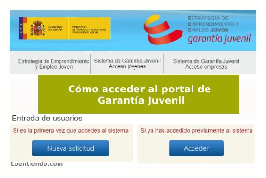 Cómo acceder al Portal de Garantía Juvenil