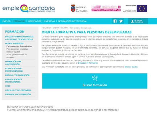Buscador de Cursos para Desempleados Cantabria 2020