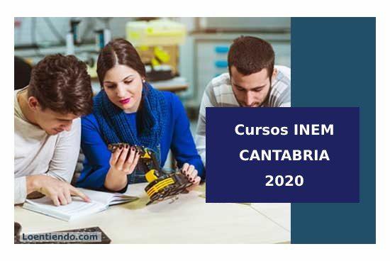 Cursos INEM Cantabria 2020