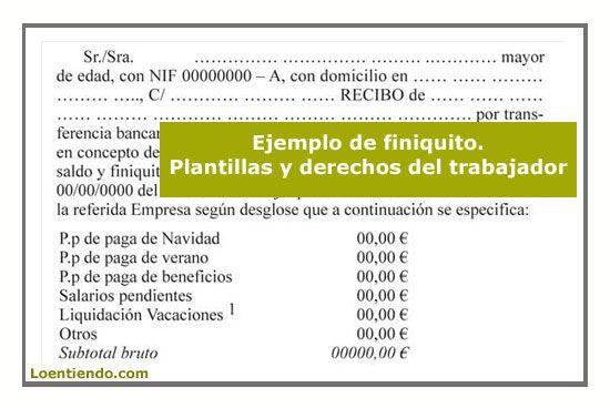Modelos de finiquito, plantillas .pdf, word