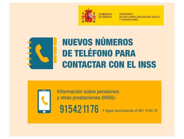 Teléfono información INSS