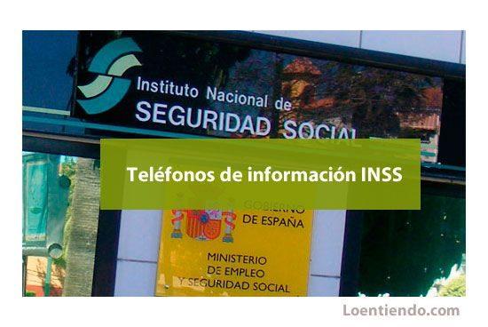 Teléfonos de información del INSS