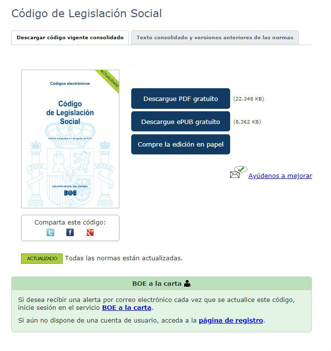 Legislación social actualizada
