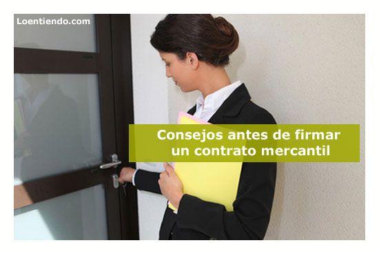 Comercial con contrato mercantil