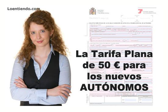 La tarifa plana de 50 euros para nuevos autonomos