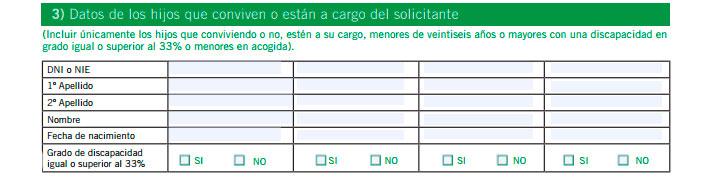 Impreso solicitud prestación contributiva SEPE
