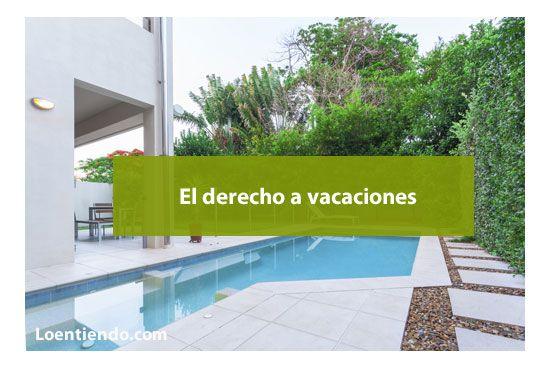 El derecho a vacaciones