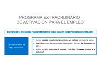 Infografía: funcionamiento del Programa Extraordinario de Activación para el Empleo