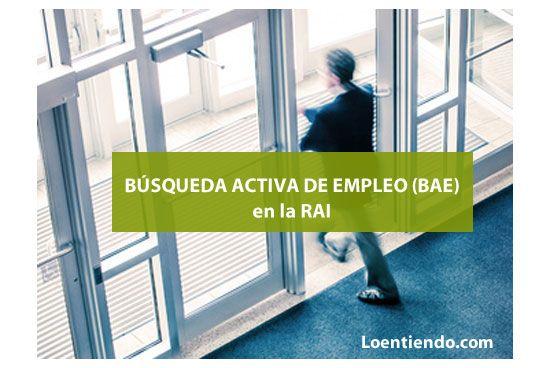 BAE búsqueda activa de empleo en la RAI