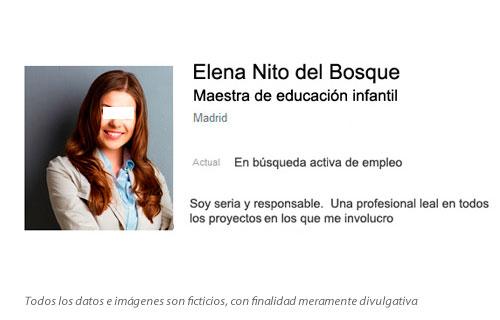 Curriculum de Elena Nito del Bosque