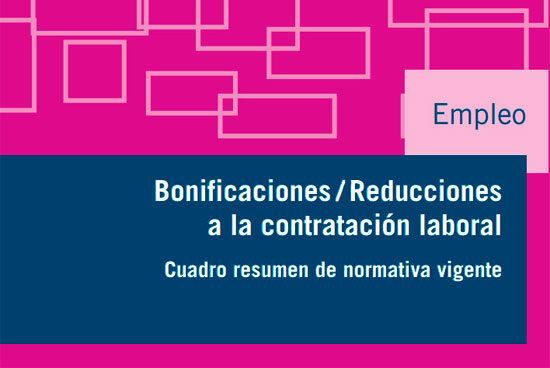 Guía de bonificaciones y reducciones a la contratacion