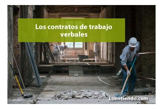 los contratos de trabajo verbales