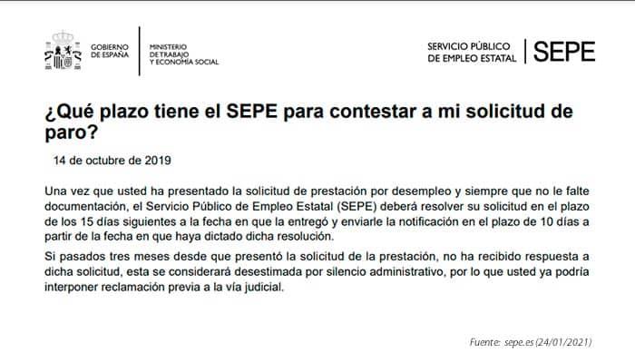 Plazos del SEPE para resolver solicitudes de prestaciones