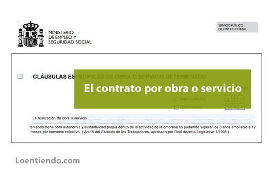 Contrato por obra o servicio