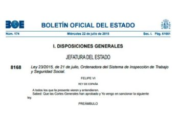 Nueva Ley Inspeccion Trabajo y Seguridad Social