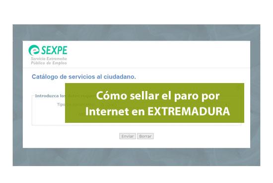 Cómo sellar el paro por Internet en Extrermadura