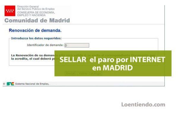 Cómo sellar el paro por Internet en Madrid