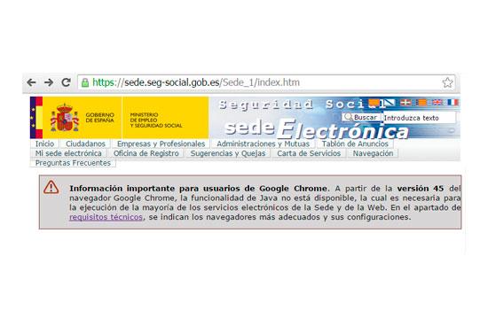 Problemas con java en Google Chrome 45