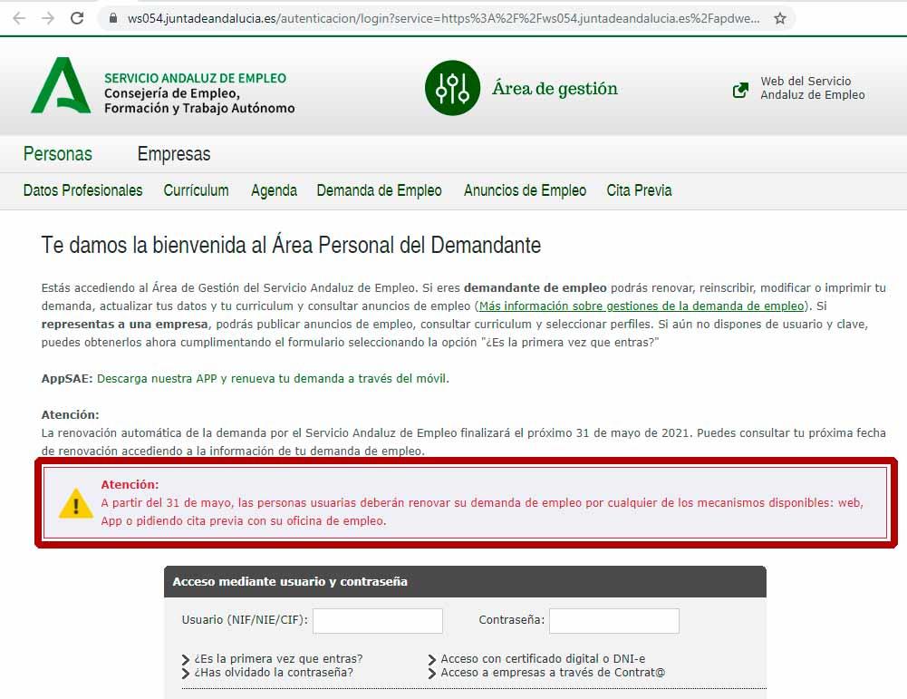 Ahora es obligatorio sellar la huelga en Andalucía