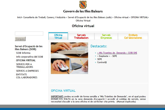 C mo sellar el paro por internet en baleares inem 2018 for Oficina virtual sellar paro