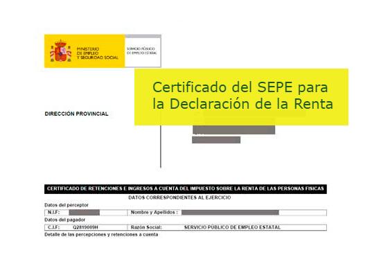 Certificados del sepe inem para la declaraci n de la for Sellar inem por internet