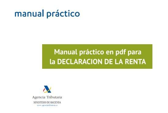Manual de la Agencia Tributaria en pdf para la declaración de la Renta