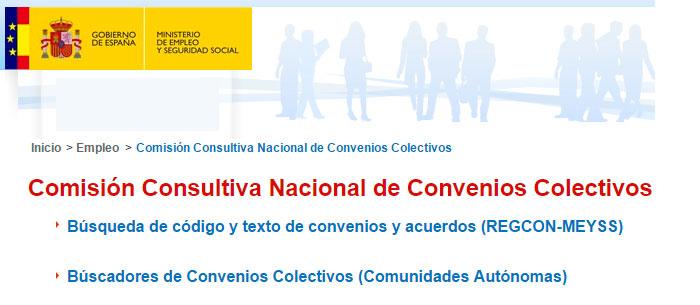 Comisión consultiva nacional de convenios colectivos