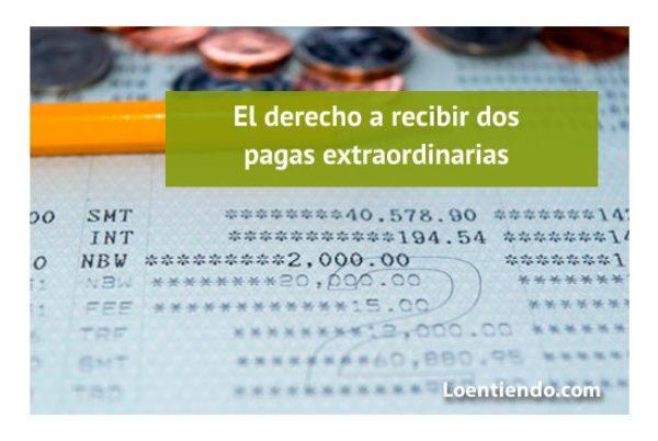 El derecho a recibir las pagas extraordinarias