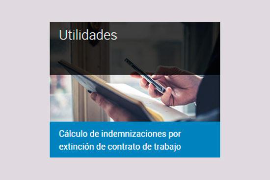 Programa de cálculo de indemnizaciones por extinción del contrato de trabajo